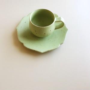 アジサイカップ&ソーサー(抹茶ミルク)
