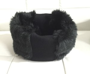 FUR SNOOD BLACK