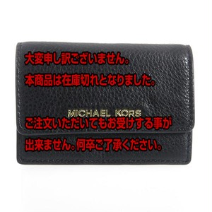 マイケルコース MICHAEL KORS レディース カードケース 32F5GDDD5T001 ブラック ブラック
