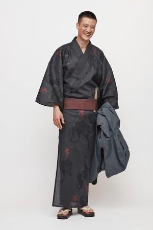 ゆかた / 伊藤若冲 / 軍鶏 / Black(With tailoring)