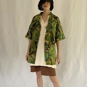 70's | botanical mesh S/S shirt (V4995A)