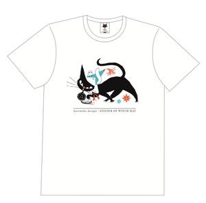 とんがり帽子のアトリエ×黒ねこ意匠 Tシャツ