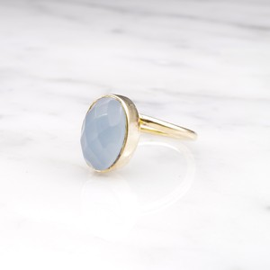 SINGLE OVAL STONE RING GOLD 005