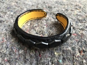BLACK HEX STUDS BANGLE