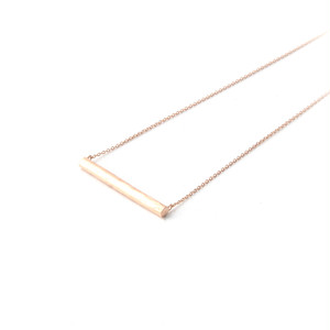 NUDY short bar necklace