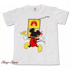 ミッキーマウス Mickey Mouse Trap Funny プリントTシャツ