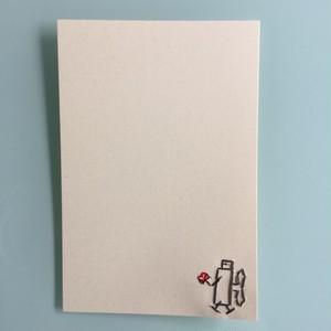 刺繍ポストカード(ブリキのハート)