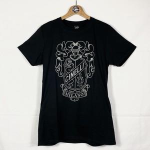【メンズ】Cinelli (チネリ) Crest Black Tシャツ