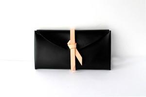 ori long wallet / 折りロングウォレット #黒 x ベージュ
