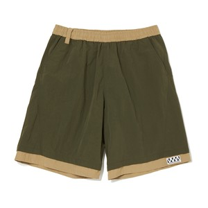 WIDE SHORT PANTS -KHAKI