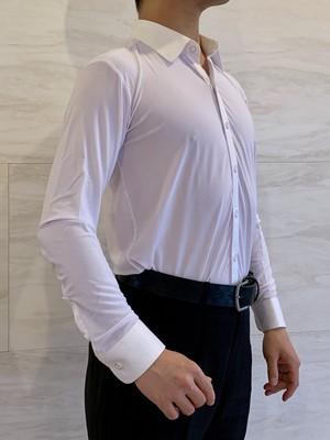 メンズ ダンスシャツ白