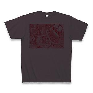 【Tシャツ】チャコール色「平和の鳥」