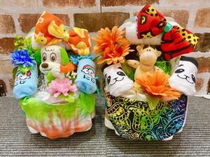 おむつケーキ/オムツケーキ/おむつベビーカー/ANAP/アナップ/出産祝い/誕生祝い/お祝い/ディズニー/ティガー/ワンワン/Rady/レディ/キティ/マイメロ/おむつバイク/ベビーギフト/ベビーシャワー