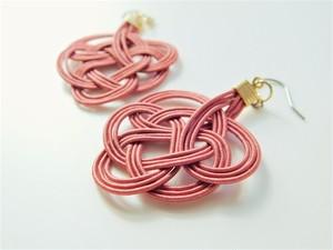 水引 tie earrings -結びの耳飾り-  Color:テラコッタ
