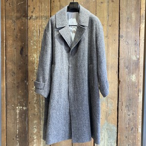 08sircus / Wool fulling herringbone coat / khaki brown