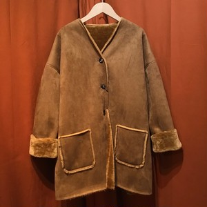 Lilou&Lily : ECOPEL SHEEP SKIN COAT   Color : Mocha