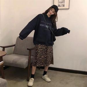 レオパード ヒョウ柄 オーバーサイズ プルオーバー【1121】