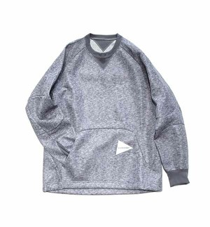 【and wander】W raschel pullover