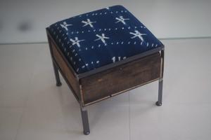 品番UAI1-102  1drawer ottoman[narrow/ African indigo]
