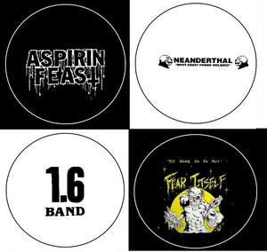 "aspirin feast/neanderthal/1.6band/fear itself - 1"" pin button(2.5cmピンバッジ)"