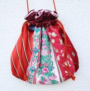 necktie kinchaku pochette (red)