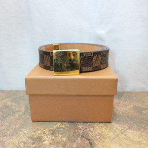 .2000000006239 LOUIS VUITTON LB0051 DAMIE PATTERNED BELT MADE IN FRANCE SPAIN/ルイヴィトンサンチュールキャレダミエ柄ベルト