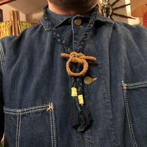 "Vintage Boro + 60's BSA Slide Bolo Tie, ""Square Knot """
