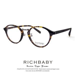 リッチベイビー メガネ rb5007-1 Sサイズ 小学校高学年~中学生 対象 レディース 子供 ジュニア クラシック ボストン型 丸眼鏡 丸メガネ