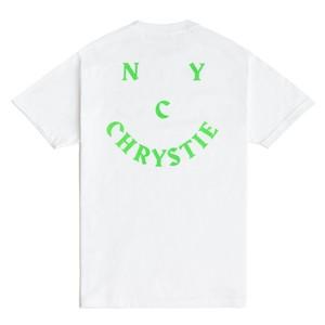CHRYSTIE SMILE Logo T-Shirt  White L クリスティ ニューヨーク Tシャツ