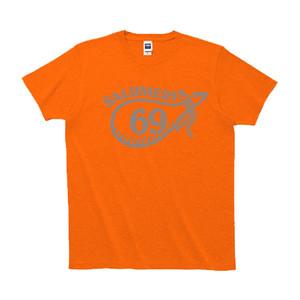 """""""サルメリア69"""" orange Tシャツ"""