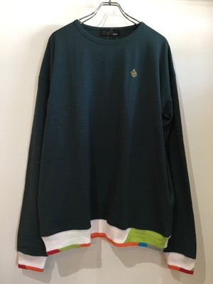 ALDIES=アールディーズ【Rib Switching Long T】#DarkGreen