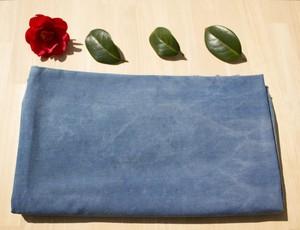 オーガニックコットン100% ツイル生地 草木染め(ムラ、色褪せ有り)藍染め 布ナプキン ふんどし ベビーグッズ制作に!!