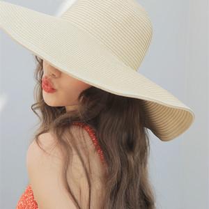 【goods】ファッション無地草編み帽子21881121