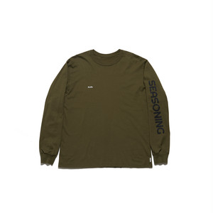 "SEASONING L/S TEE ""Knife"" -  KHAKI"