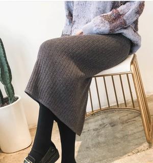 ニットマキシミディ丈スカート195