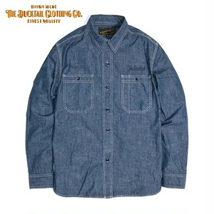 """DUCKTAIL CLOTHING """"STAND FIRM"""" BLUE ダックテイル クロージング 長袖 シャンブレーシャツ"""