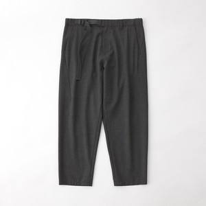 TROPICAL T/W BELTED PANTS - CHARCOAL
