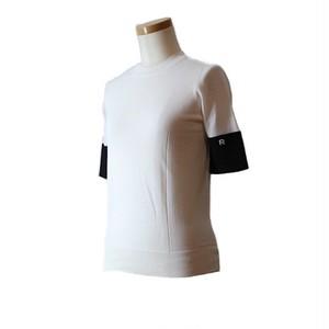 ロシャス ( ROCHAS ) コントラスト半袖プルオーバー ホワイト