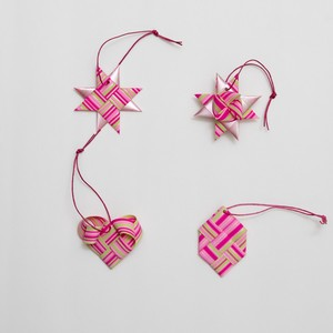 ornament 4pcs set(PK)(outlet)