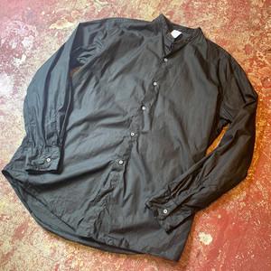 50's イタリア軍 スタンドカラーシャツ 後染めブラック
