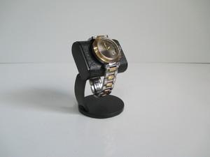 腕時計スタンド 腕時計を飾る オールブラックだ円パイプ支柱カーブ時計スタンド 190506