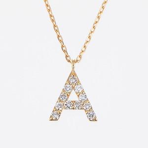 Initial K18YG Diamond【A】Pendant Necklace (ダイヤモンド イニシャル【A】ペンダントネックレス)