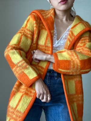Vintage Mohair Check Cardigan