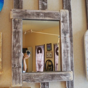 big wood mirror
