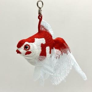 刺繍金魚根付
