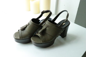 dead stock khaki sandles - Italy