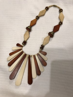 70s brown Necklace ( ヴィンテージ ネックレス )