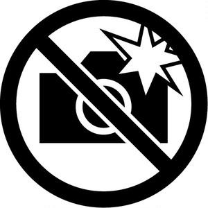 フラッシュ撮影禁止マークのカッティングステッカー
