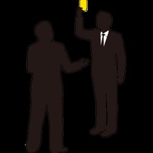 Yellow card Businessman