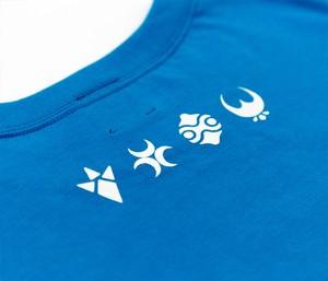 ゼルダの伝説 ブレスオブザワイルド /英傑カレッジTシャツ (スカイブルー)/THE KING OF GAMES